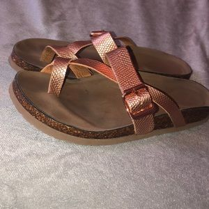 Rose gold Madden girl like-new sandal